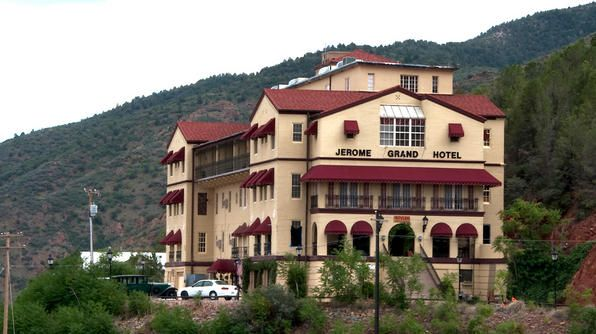 """The Jerome Grand Hotel is the most haunted structure in Jerome, Arizona, a town known as """"Ghost City."""" Originally built in 1926, an estimated 9,000 people died on the premises."""
