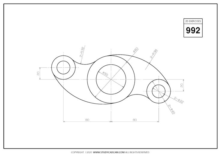 Pin on 2D CAD EXERCISES