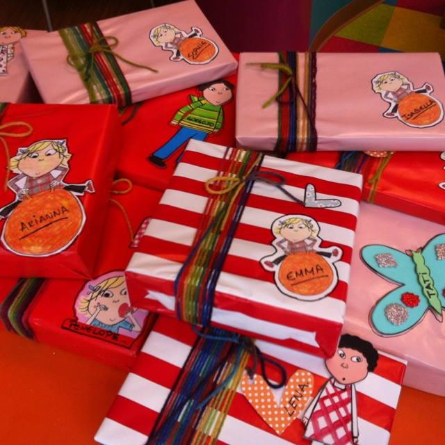 Charlie and Lola party favors.