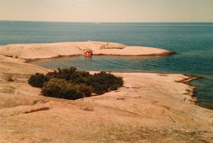 Go Home Bay, Georgian Bay, Ontario - summers of 1979-1992 and a couple of summers prior. This photo was taken in the 70's or 80's of South-East wooded Pine Island which was donated to the Nature conservatory by my Nana, Joan Robinson in 1982
