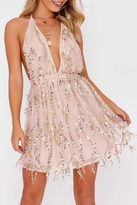 772387a5f1318 gold sequin dress open back cocktail dress short glitter sparkly mini dress  sequin embellished short dress