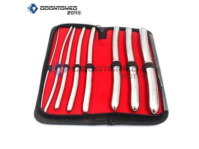 OdontoMed2011® Hegar 8 Pieces Urethral Sounds Kit, Stainless Steel Urethral Dilator Set, Hegar Sound Kit