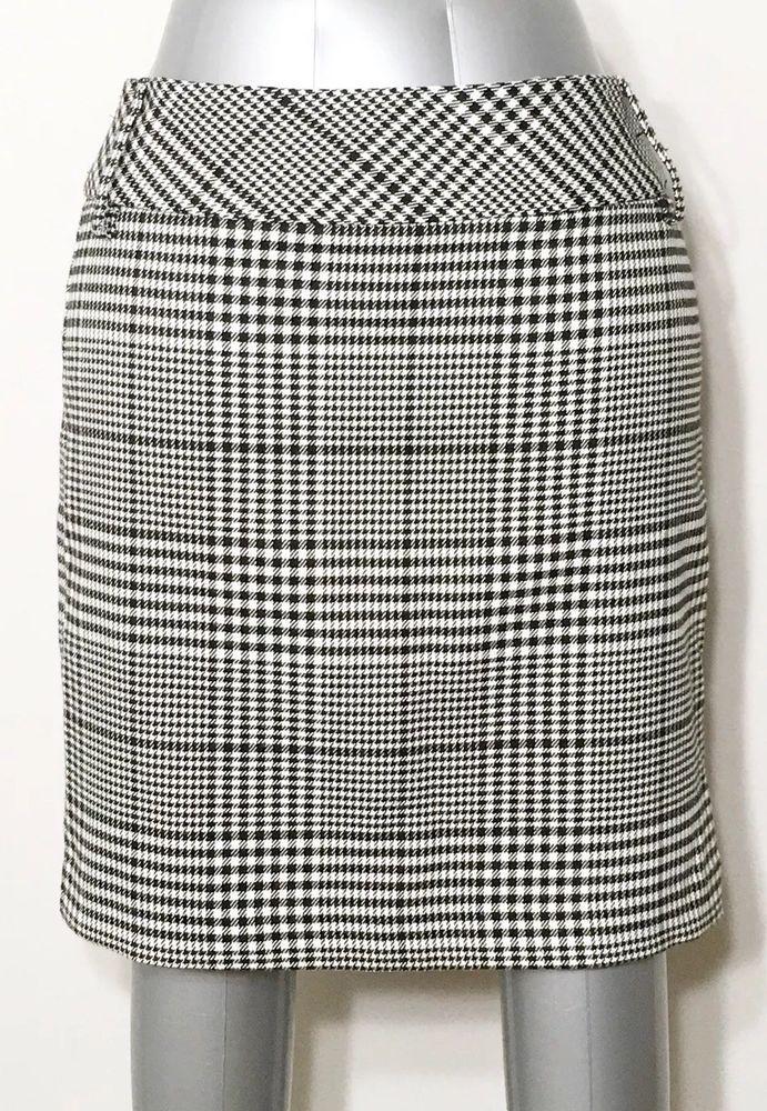 7ac3ad428de Maurice's Skirt Women's Houndstooth Black White University Of Alabama Sz 9  10 #Maurices #StraightPencil