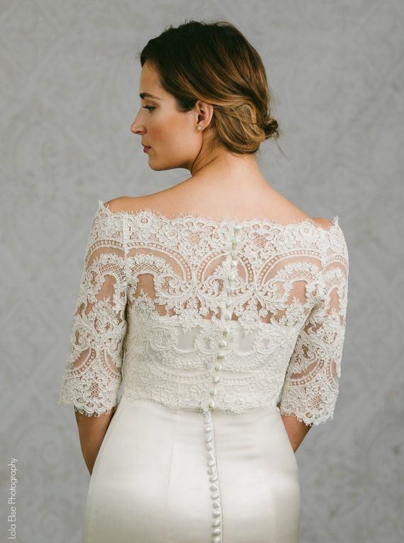 17 best images about wedding dress toppers on pinterest for Off the shoulder wedding dress topper