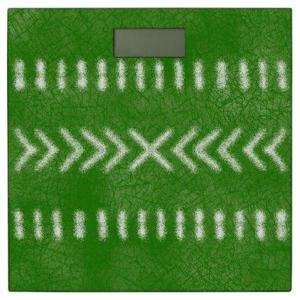 Minimalist Tribal Pattern in Lime Green Bathroom Scale - home decor design art diy cyo custom