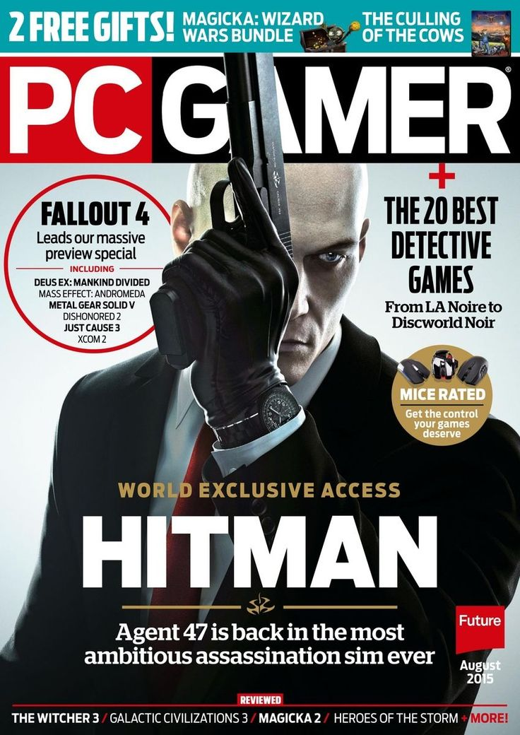 PC Gamer UK 281. The Hitman series is getting a dramatic reinvention. Top 20 detective games - The best cases to crack and mysteries to solve on PC. #gaming #gamer  #magazines
