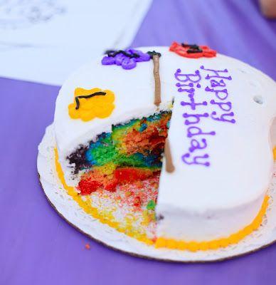 Invite and Delight: Amazing Rainbow CakeInvitations, Post, Rainbow Cakes, Cake Ideas, Rainbows Cake, Amazing Rainbows, Delight, Comments, Fun Cake