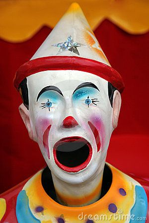 Colorful carnival clown by Onion, via Dreamstime