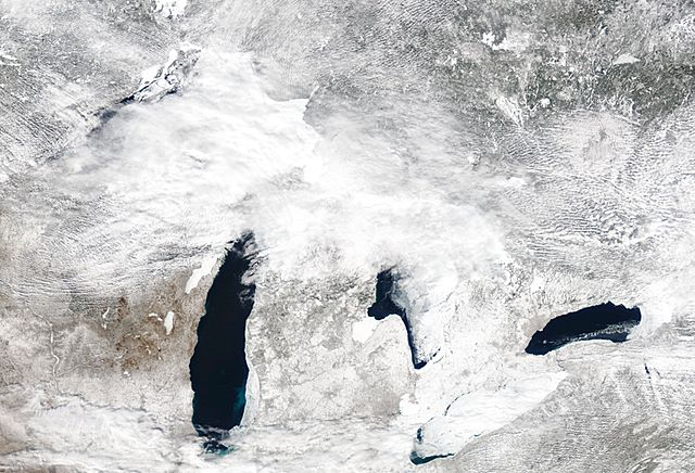 Extensive Great Lakes Ice Coverage to Limit Severe Weather, Pose Challenges to Shipping Industry