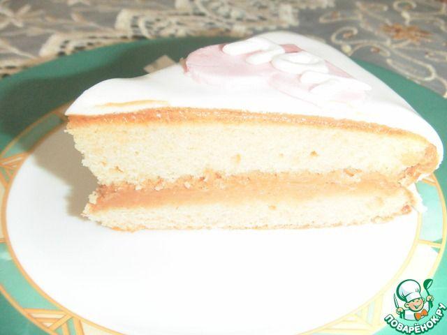 """Простой торт с мастикой """"I love you"""" ингредиенты"""