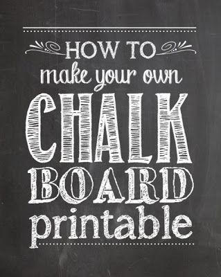 How to Create Your Own Chalkboard Printables + FREE Chalkboard Background
