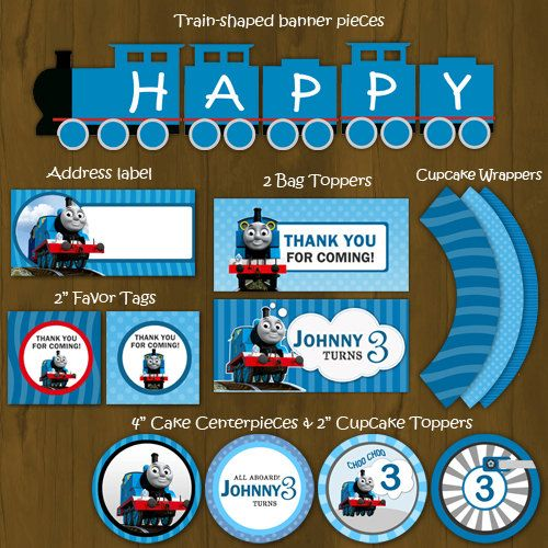 Thomas The Train Printable Birthday Party Package