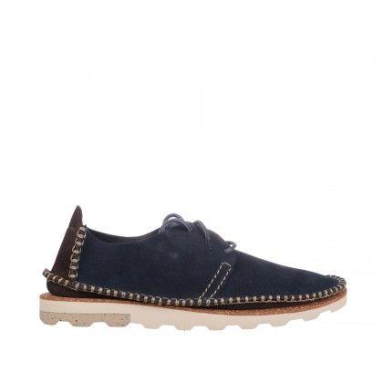 Pantofi casual Clarks, albastri, din piele intoarsa