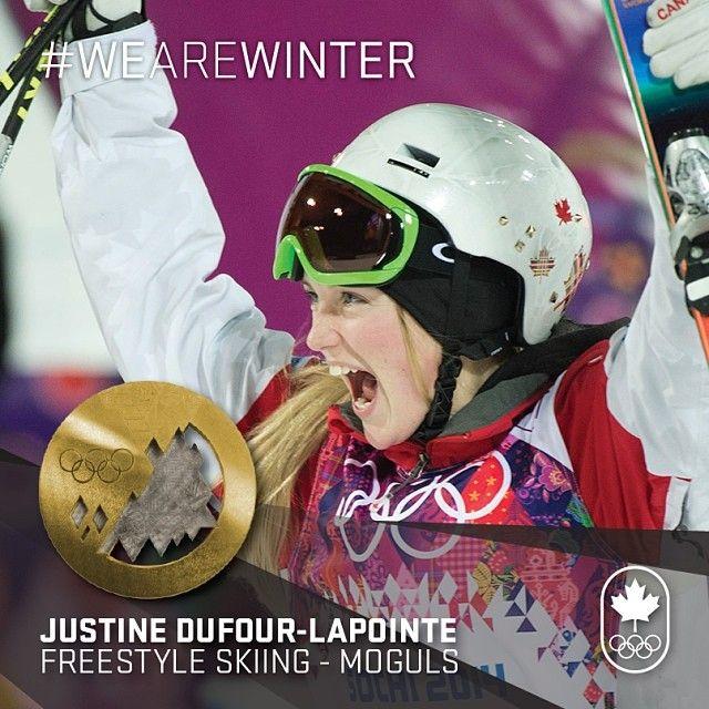 JO Sotchi / 8 février 2014 : Justine Dufour-Lapointe, championne olympique, Ski acrobatique - Bosses.