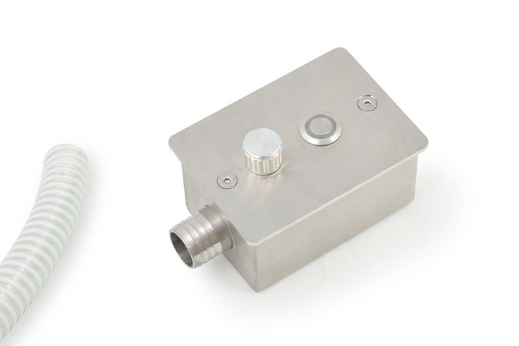 SWIMMING POOL / JACUZZI CONTROL BOX  piezoelectric switch IP68, AISI 316 stainless steel protection box