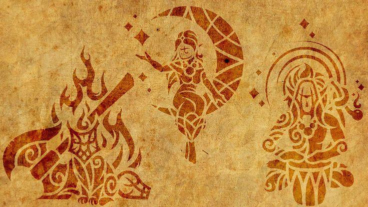 TES Персонажи,The Elder Scrolls,фэндомы,Мерунес Дагон,Лорды Даэдра,Азура,Шеогорат,каджитскиий пантеон