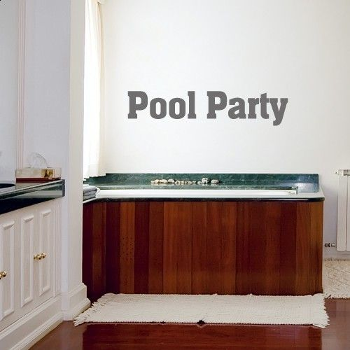 Wandtattoo Pool Party Http://www.wandkings.de/wandtattoo Badezimmer