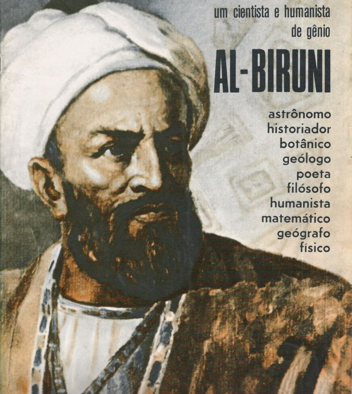 """This Man is Abū Rayḥān Al-Bīrūnī, a muslim persian scholar versed in math, physics, natural sciences and linguistics. So skilled he was tittled """"the master"""""""