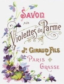 Vintage violet soap label