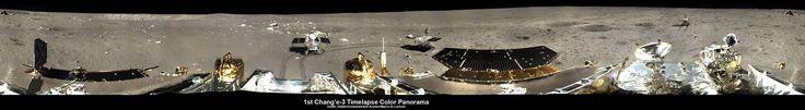 A sonda chinesa Coelho de Jade ou Yutu registrou uma imagem panorâmica em alta qualidade da Lua. A última panorâmica feita por lá foi capturada em 1972 pela missão Apollo 17, da Nasa.