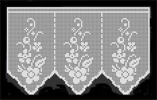 bloemengordijntje met patroon, with pattern