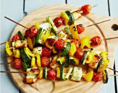 Weekend Recipe: Vegetable Kebabs: Nutritious and tasty, this Jamie Oliver recipe is one to encourage fussy eaters to eat their vegetables.