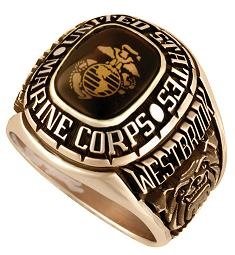 One of the worlds finest Marine Corps Rings produced in Texas and shipped FREE to anywhere in the world.   Marines are proud of their service, and there's no better way for a Marine to show that pride than by wearing one of these beautifully crafted Marine Corp Rings.  Design with emblem, name and dates of service, many options available.