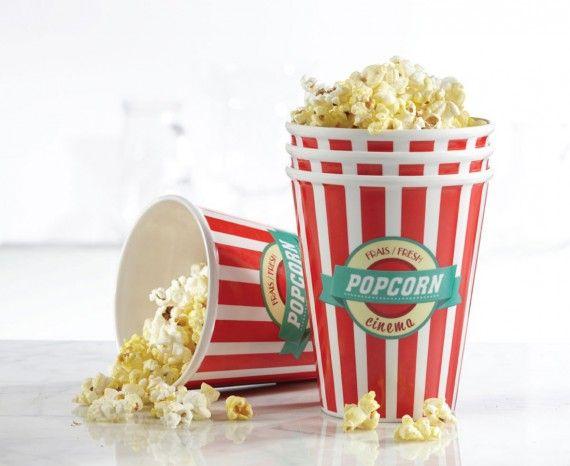 Bols à maïs soufflé Cinema - Ens. De 4