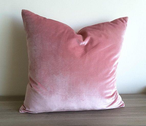 Launch Sale Blush Velvet Pillow Cover Blush Decorative Pillow Etsy Blush Decorative Pillow Velvet Pillow Covers Velvet Pillows
