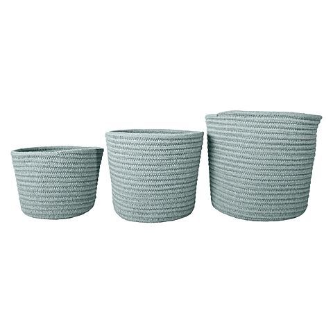 Ensure your everyday storage is practical and stylish with the weaved design of the durable Oscar Rope Storage Basket (Set of 3) from j.elliot HOME.