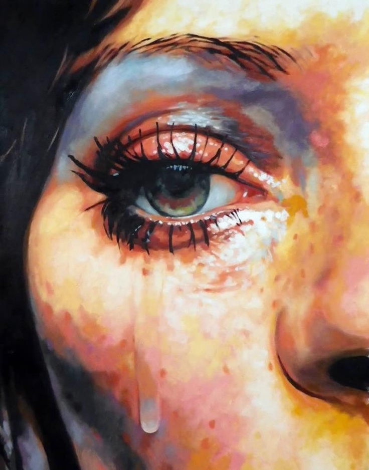 EYE WIDE OPEN  I was trying to figure out if these were digital or traditional works of art. And I found out that they are oil paintings by Frenchman Thomas Saliot. The canvas dimensions range from 23 to 60 inches (60 to 150 cm). [...]