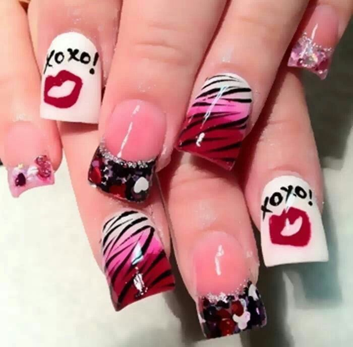 332 best Valentine Nails images on Pinterest | Gel nails, Nail ...