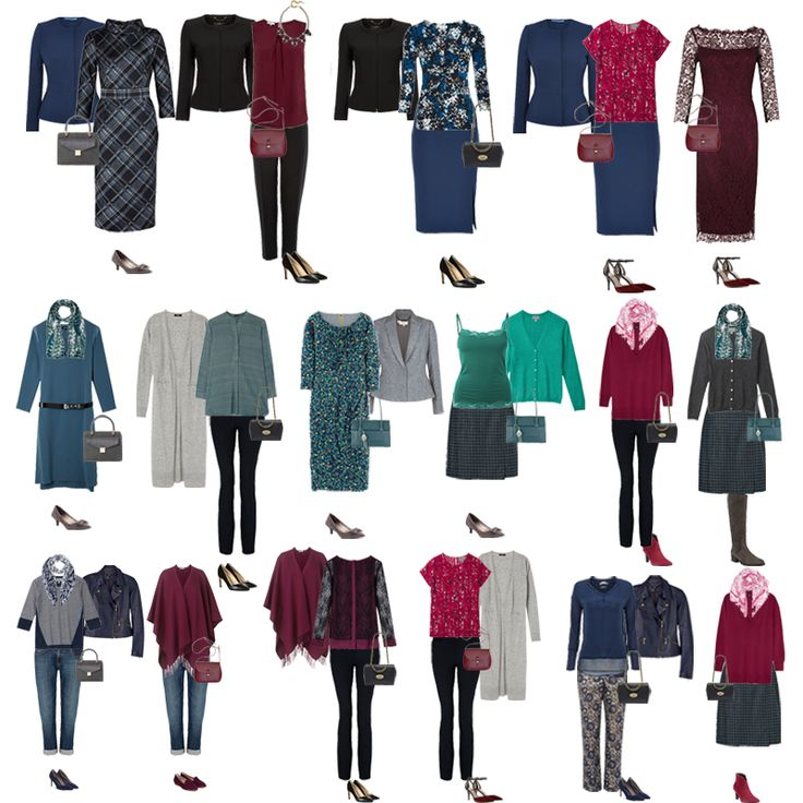 A sample of autumn capsule wardrobe outfits