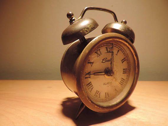 Bradley Very Rustic Vintage Alarm Clock. Double Bell Made in