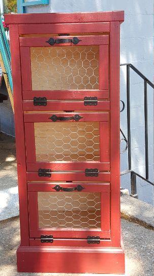 3 Door Vegetable Bin   Vegetable bin, Handmade wooden ...