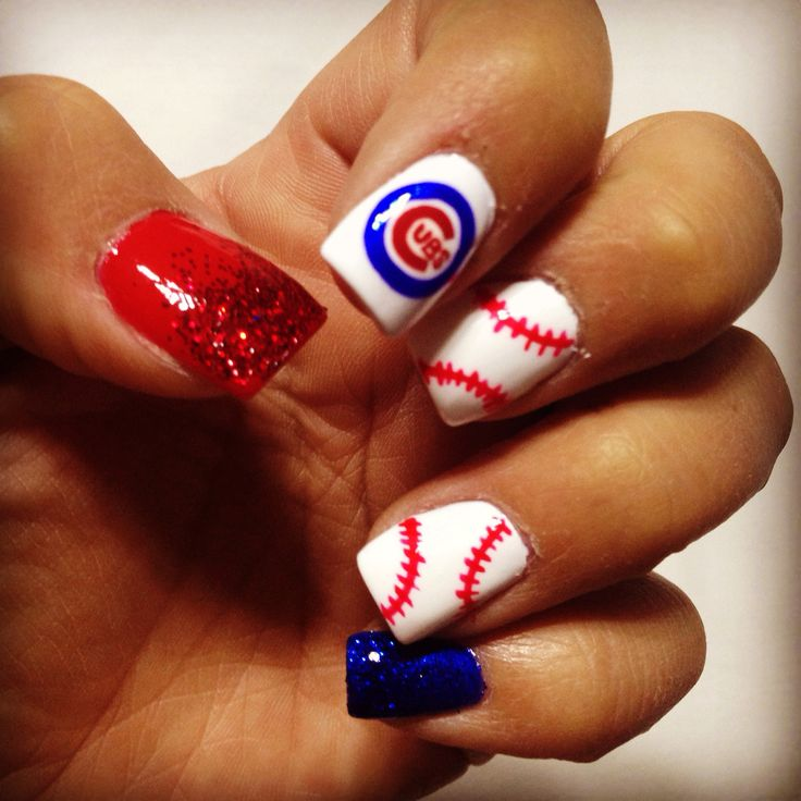 24 best Chicago Cubs Nails, Hair and Makeup images on Pinterest ...