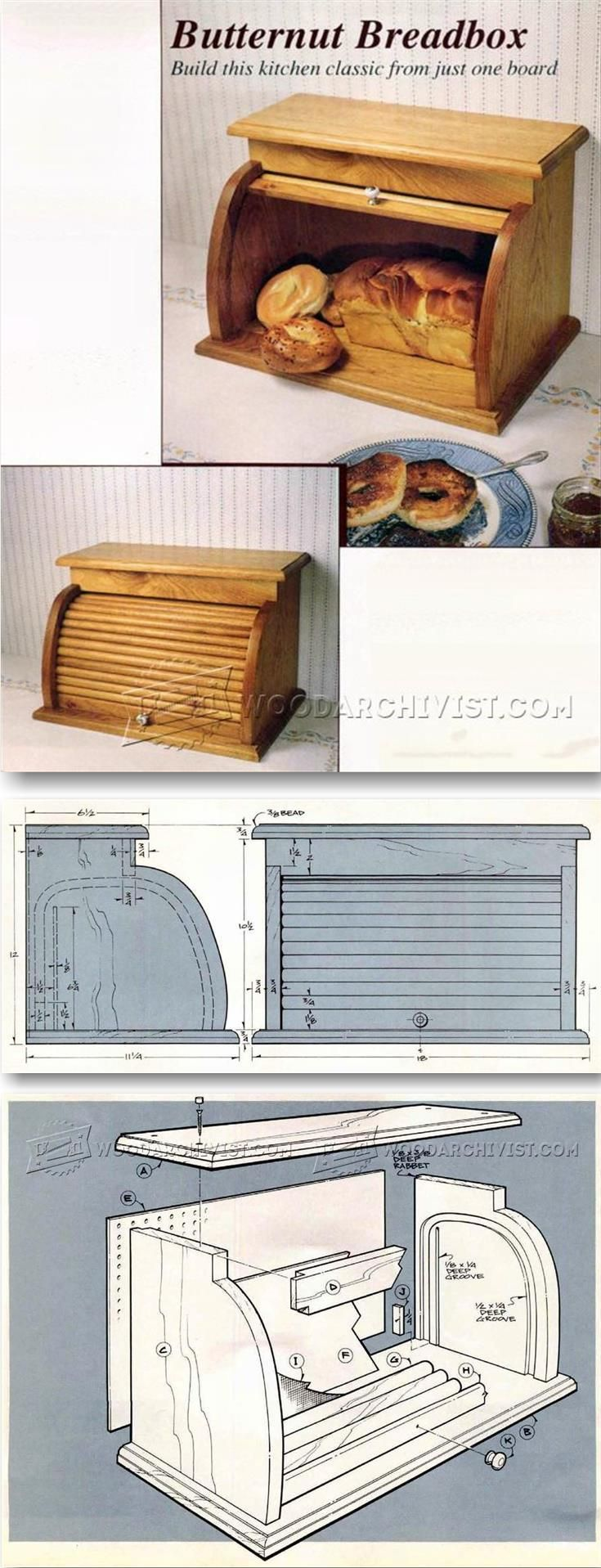 Tin bread box drawer insert - Tambour Bread Box Plans Woodworking Plans And Projects Woodarchivist Com
