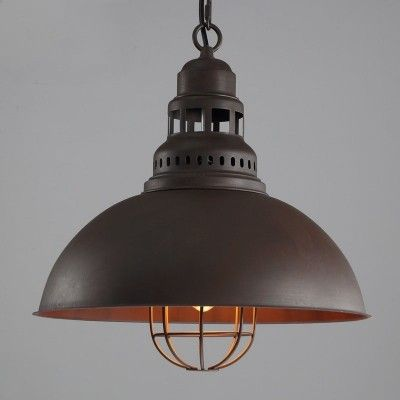 retro brown 1 light in cage style pendant lighting hanging