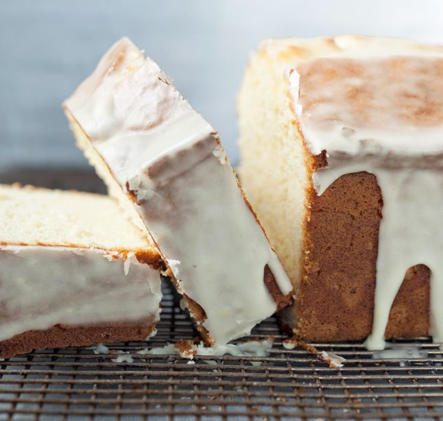 A delicious looking cream cheese pound cake.