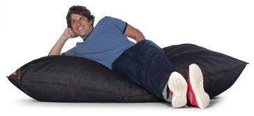 Jaxx Pillow Saxx Denim Bean Bag Pillow contemporary-bean-bag-chairs