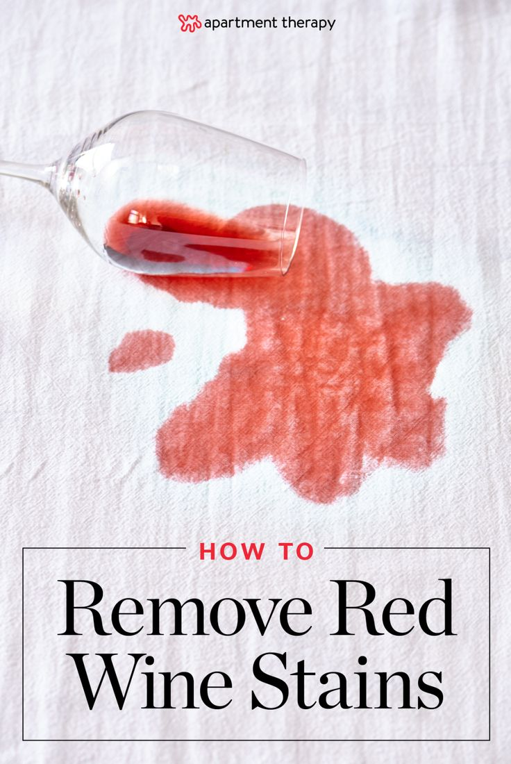 """How To Get Rid of Red Wine Stains 