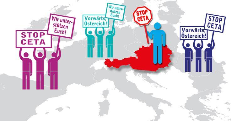 Bundeskanzler Kern: Stoppen Sie CETA!Unsere letzte Chance CETA aufzuhalten: Österreich!es gibt in Europa tatsächlich eine Regierung, die bereit und in der Lage ist, CETA noch zu stoppen: Österreich! Bundeskanzler Christian Kern hat sich lange klar gegen das undemokratische Handelsabkommen zwischen der EU und Kanada ausgesprochen. Mit der Stimme Österreichs kann er das im Geheimen ausgehandelte Vertragswerk noch scheitern lassen