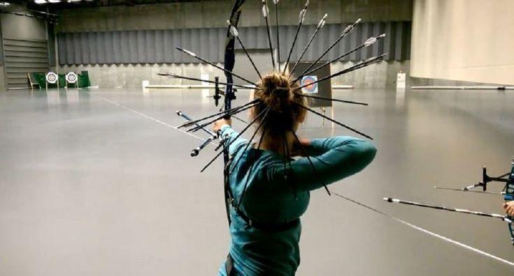фото,девушка,стрелы,стрельба из лука