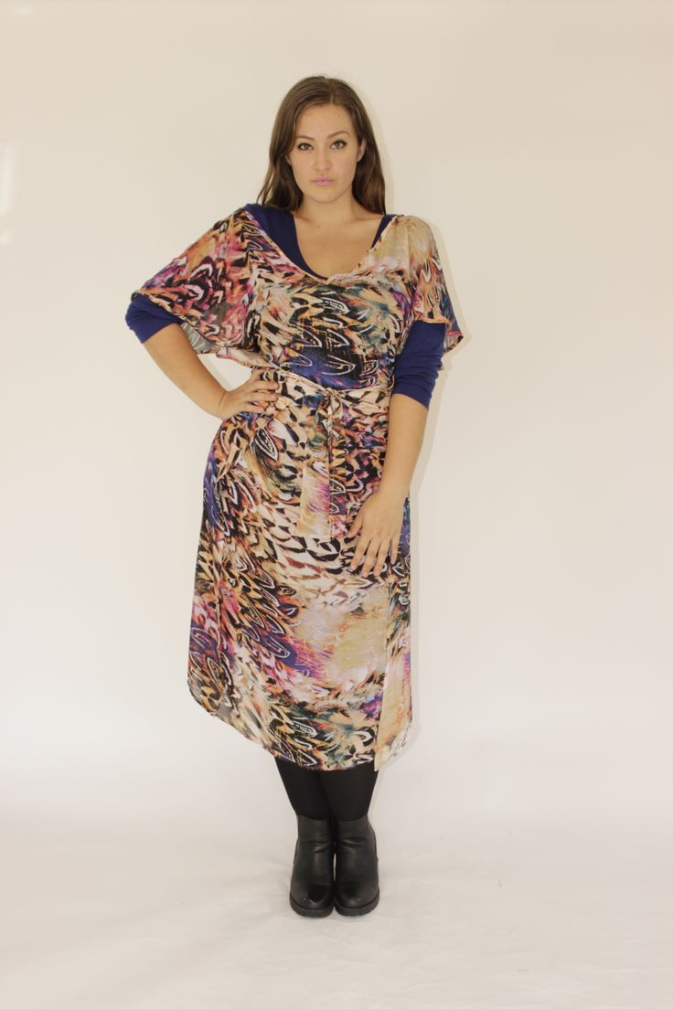 SJ PINNY DRESS -FEATHER PRINT