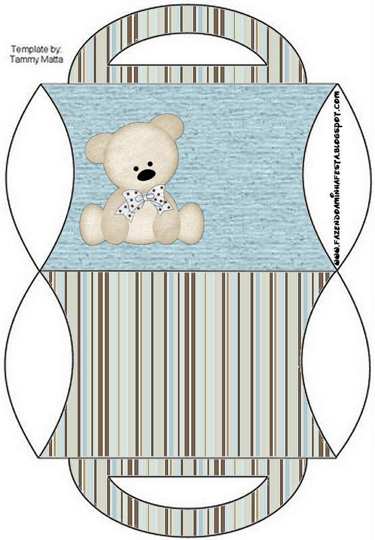 Bear Blue Pillow Box