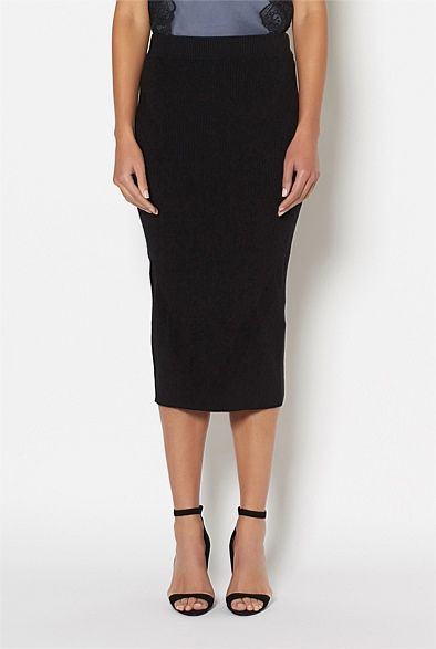 Women's New In | Clothing | Witchery Online - Rib Knit Maxi Skirt