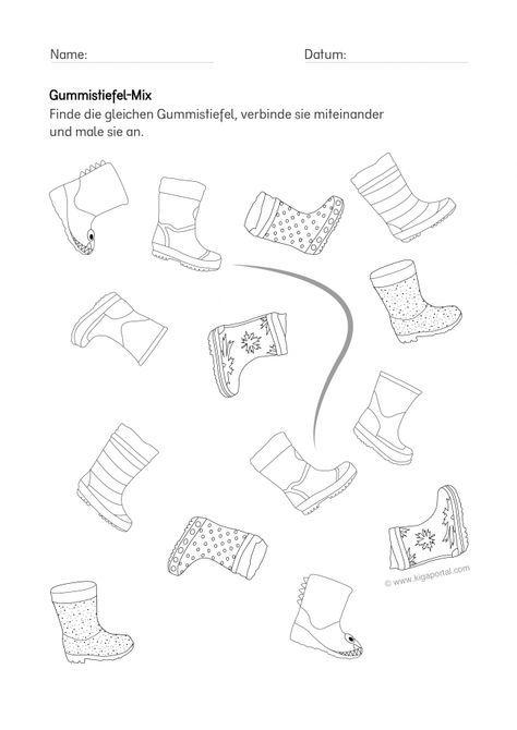 de kigaportal kindergarten wetter arbeitsblatt gummistiefel wahrnehmung basteln. Black Bedroom Furniture Sets. Home Design Ideas