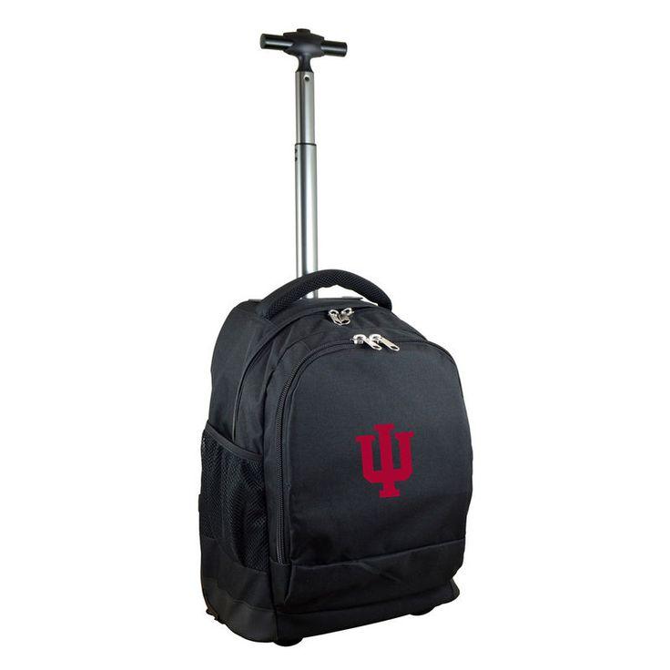Indiana Hoosiers 19'' Premium Wheeled Backpack - Black