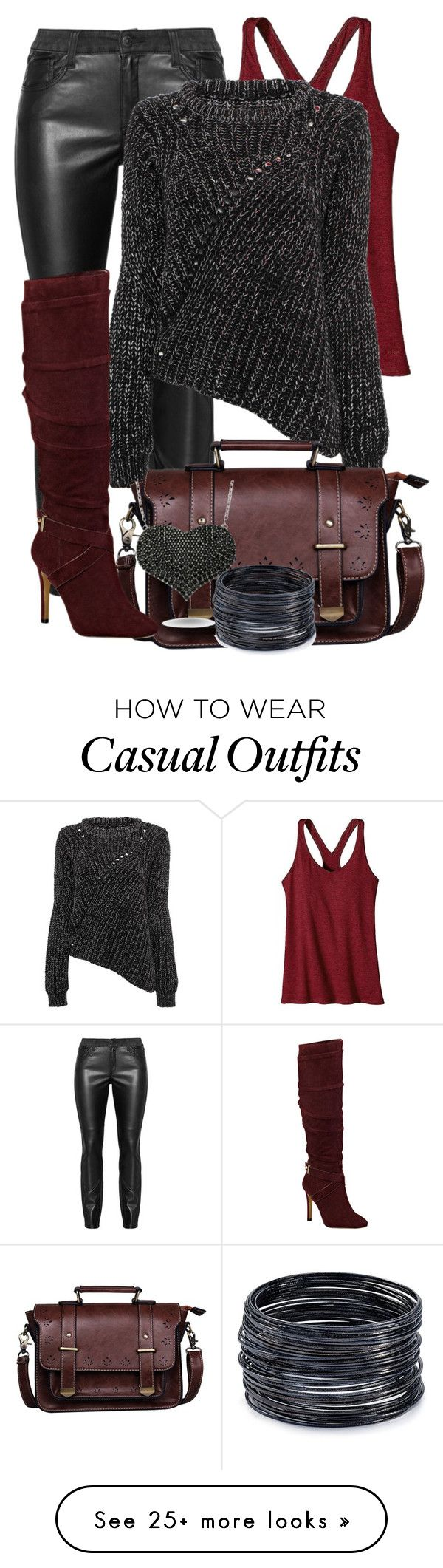"""casual"" by alice-fortuna on Polyvore featuring Patagonia, GUESS, Amorium, ABS by Allen Schwartz, women's clothing, women's fashion, women, female, woman and misses"