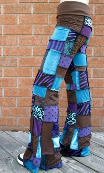 CUSTOM Patchwork Pants, Pixie Pants, Flared Leg Pants, Patchwork Clothes, Gypsy Clothes, Hula Hoop Clothing by PatchworkPixieApparel for $135.00